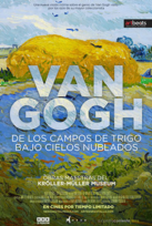 Van Gogh de los Campos de Trigo bajo Cielos..